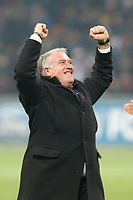 FOOTBALL - UEFA CHAMPIONS LEAGUE 2011/2012 - 1/8 FINAL - 2ND LEG - INTER MILAN v OLYMPIQUE MARSEILLE - 13/03/2012 - PHOTO PHILIPPE LAURENSON / DPPI - DIDIER DESCHAMPS (OM COACH) JOY AFTER MATCH