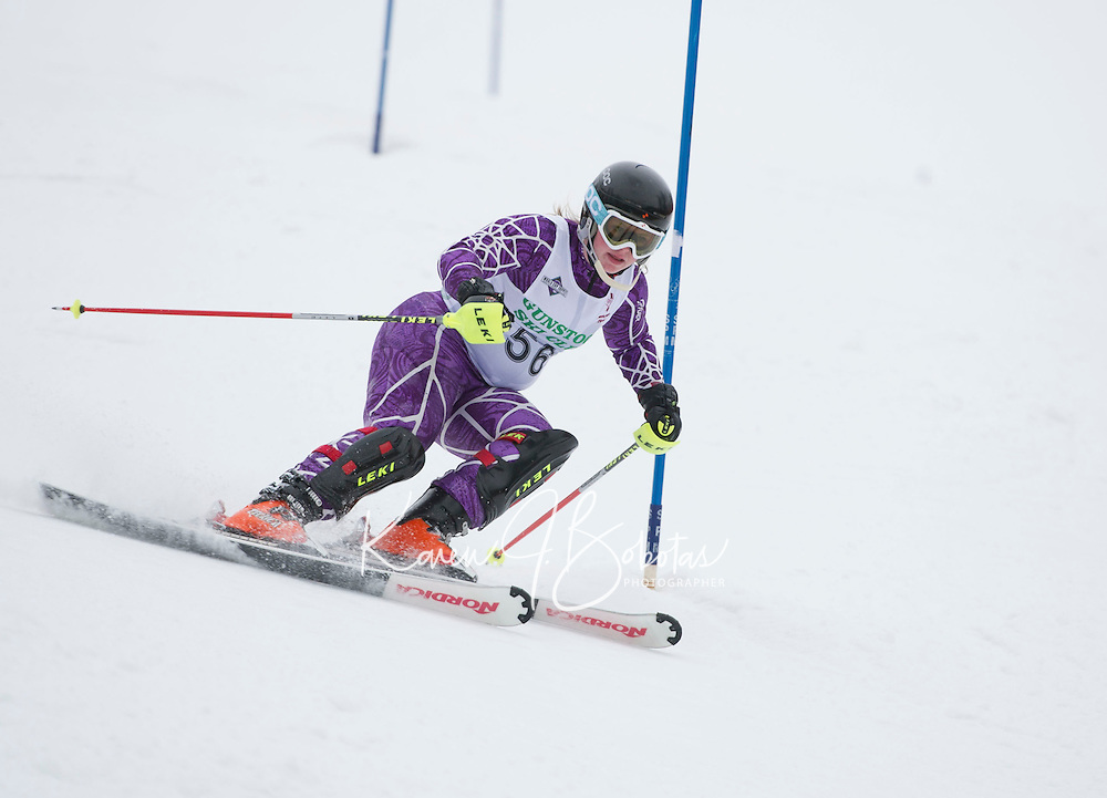 Tecnica Cup alpine slalom at Gunstock. ©2014 Karen Bobotas Photographer