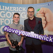 10.10. 2017.          <br /> Pictured at the Limerick Going for Gold 2017 finals in the Strand Hotel were, Luke Culhane and Richard Lynch, ILovelimerick.com.<br /> <br /> <br /> Limerick Going for Gold, which is sponsored by the JP McManus Charitable Foundation, has a total prize pool of over €75,000.  It is organised by Limerick City and County Council and supported by Limerick's Live 95FM, The Limerick Leader and The Limerick Chronicle, The Limerick Post, Parkway Shopping Centre, I Love Limerick and Southern Marketing Media & Design. Picture: Alan Place