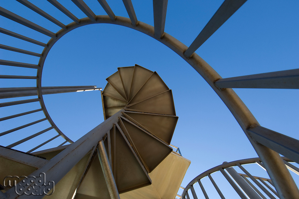 Spiral staircase, outdoors