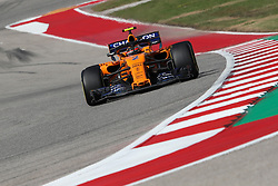 October 21, 2018 - Austin, TX, U.S. - AUSTIN, TX - OCTOBER 21: McLaren driver Stoffel Vandoorne (2) of Belgium races through turn 13 during the F1 United States Grand Prix on October 21, 2018, at Circuit of the Americas in Austin, TX. (Photo by John Crouch/Icon Sportswire) (Credit Image: © John Crouch/Icon SMI via ZUMA Press)