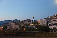 Corsica. France. Sartene, perched village on a montain , general view   .  France   / Sartene , village perché sur la montagne vue generale  Corse du sud .  France