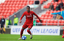 ST HELENS, ENGLAND - Monday, December 10, 2018: Liverpool's Rafael Camacho during the UEFA Youth League Group C match between Liverpool FC and SSC Napoli at Langtree Park. (Pic by David Rawcliffe/Propaganda)