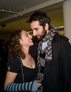 ANNIE MORRIS; IDRIS KHAN, Preview evening for the London Art Fair. Business Design Centre. Islington. London. 13 January 2009.  *** Local Caption *** -DO NOT ARCHIVE -Copyright Photograph by Dafydd Jones. 248 Clapham Rd. London SW9 0PZ. Tel 0207 820 0771. www.dafjones.com<br /> ANNIE MORRIS; IDRIS KHAN, Preview evening for the London Art Fair. Business Design Centre. Islington. London. 13 January 2009.