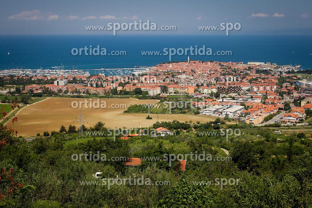 Airview of town Izola / Isola on June 21, 2013 in Izola, Slovenia. (Photo by Vid Ponikvar / Sportida.com)