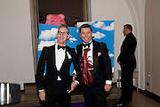 DAMIEN BYRNES; PEDRO GIRAO, The Surrealist Ball in aid of the NSPCC. Hosted by Lucy Yeomans and Harry Blain. Banqueting House. Whitehall. 17 March 2011. -DO NOT ARCHIVE-© Copyright Photograph by Dafydd Jones. 248 Clapham Rd. London SW9 0PZ. Tel 0207 820 0771. www.dafjones.com.