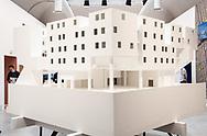 """Venezia - 16. Mostra di Architettura. Padiglioni ai Giardini. Palzzo delle Esposizioni. """"Star Apartemnts""""."""