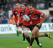 Crusaders Israel Dagg makes  a brake during the Investec Super Rugby - Highlanders v Crusaders, 19 March 2011, Carisbrook Stadium, Dunedin, New Zealand.Photo: New Zealand. Photo: Richard Hood/www.photosport.co.nz