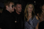 Sir Elton John,  Alexander Mcqueen and Sam Taylor Wood, The 7th GQ Man of the Year Awards, Royal Opera House. 7 September 2004. In association with Armani Mania. SUPPLIED FOR ONE-TIME USE ONLY-DO NOT ARCHIVE. © Copyright Photograph by Dafydd Jones 66 Stockwell Park Rd. London SW9 0DA Tel 020 7733 0108 www.dafjones.com