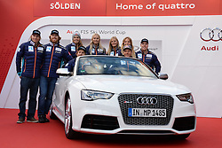 24.10.2013, Audi Lounge, Soelden, AUT, FIS Ski Alpin, Soelden, im Bild Team Norway during the Audi press conference prior to the alpine skiing world cup opening race at the Audia Lounge, Soelden, Austria on 2013/10/22. EXPA Pictures © 2013, PhotoCredit: EXPA/ Mitchell Gunn<br /> <br /> *****ATTENTION - OUT of GBR*****