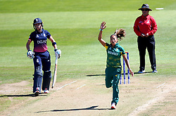 Shabnim Ismail of South Africa Women looks frustrated while bowling - Mandatory by-line: Robbie Stephenson/JMP - 05/07/2017 - CRICKET - County Ground - Bristol, United Kingdom - England Women v South Africa Women - ICC Women's World Cup Group Stage