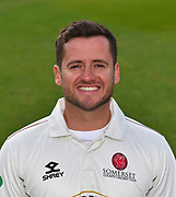 Head shot of Steve Davies of Somerset during the 2019 media day at Somerset County Cricket Club at the Cooper Associates County Ground, Taunton, United Kingdom on 2 April 2019.