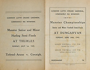 Munster Senior and Minor Football Championships - Semi-final,..Tipperary v Cork,