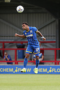 Andy Barcham in action during the Pre-Season Friendly match between AFC Wimbledon and Cheltenham Town at the Cherry Red Records Stadium, Kingston, England on 1 August 2015. Photo by Stuart Butcher.