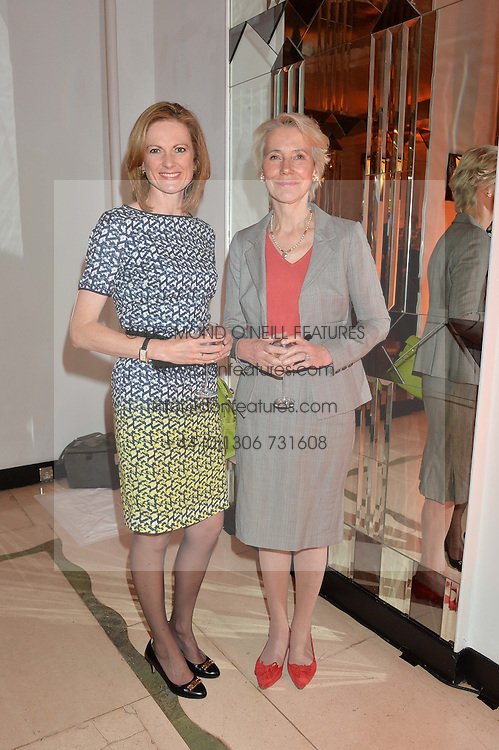 Left to right, GAIL MURRAY and BARONESS BOTTOMLEY at the Veuve Clicquot Business Woman Awards held at Claridge's, Brook Street, London on 11th May 2015.