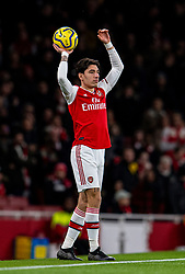 LONDON, ENGLAND - Thursday, December 5, 2019: Arsenal's Héctor Bellerín prepares to take a throw-in during the FA Premier League match between Arsenal FC and Brighton & Hove Albion FC at the Emirates Stadium. (Pic by Vegard Grott/Propaganda)