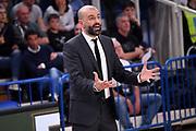 Maurizio Buscaglia<br /> Dolomiti Energia Aquila Basket Trento - Happy Casa New Basket Brindisi<br /> LegaBasket Serie A 2017/2018<br /> Trento, 08/04/2018<br /> Foto M.Ceretti / Ciamillo - Castoria