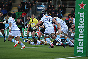 Glasgow Warriors attacking the line during the Heineken Champions Cup match between Glasgow Warriors and Cardiff Blues at Scotstoun Stadium, Glasgow, Scotland on 13 January 2019.
