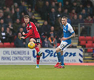 30th December 2017, McDiarmid Park, Perth, Scotland; Scottish Premiership football, St Johnstone versus Dundee; Dundee's Jack Hendry and St Johnstone's Denny Johnstone