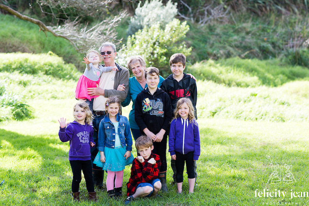 Christine's family photos on the Thames Coast Coromandel Peninsula Photography by Felicity Jean Photography Family Portraits 2016 for Christine's 70th Birthday Gathering