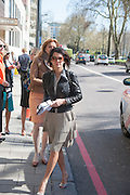 LAURA STOCK, Leaving The Seventh Annual Foreign Sisters Lunch in aid of Cancer Research UK. . The Dorchester 53 Park Lane. London. 1 May 2013.