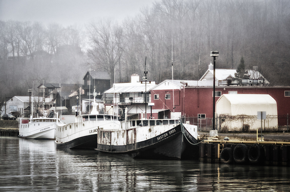 A number of the Lake Erie fishing boats remain in harbour over the winter.