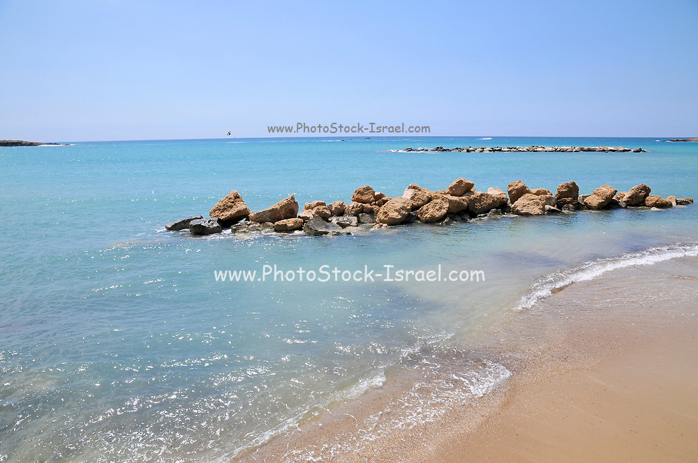 The rocky coast at Paphos, Cyprus