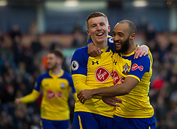 Nathan Redmond of Southampton  (R) celebrates after scoring his sides first goal - Mandatory by-line: Jack Phillips/JMP - 02/02/2019 - FOOTBALL - Turf Moor - Burnley, England - Burnley v Southampton - English Premier League