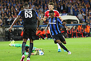 Sergio Romero Goalkeeper of Manchester United makes a save from Abdoulay Diaby of Club Brugge during the Champions League Qualifying Play-Off Round match between Club Brugge and Manchester United at the Jan Breydel Stadion, Brugge, Belguim on 26 August 2015. Photo by Phil Duncan.