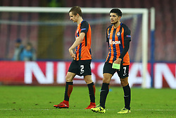 November 21, 2017 - Naples, Italy - Disappointment of Taison and Bohdan Butko of Shakhtar Donetsk after the UEFA Champions League Group F football match Napoli vs Shakhtar Donetsk on November 21, 2017 at the San Paolo stadium in Naples. (Credit Image: © Matteo Ciambelli/NurPhoto via ZUMA Press)