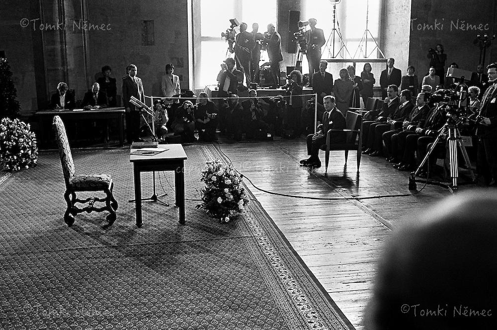 Czech Republic - Prague Casrle, 20.January 1998 - Vaclav Havel znovuzvolen prezidentem Ceske republiky 20. ledna 1998 .Volebni obdobi skoncilo 2.unora 2003