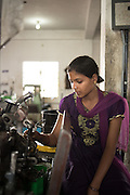 December 23, 2015. I met Muskan in a small scale industry in the southern part of Bangalore. I was on an assignment for a financial services company that lends to small and medium industries. She was working quietly and as industrial workers do- robotically. I asked her name..I couldn't hear her answer over the din of machines. I asked again.. She smiled and said 'Muskan' - it means smile in Hindi..:) She is from Kolkata.