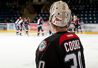 KELOWNA, CANADA - OCTOBER 18:   The Prince George Cougars visit the Kelowna Rockets on October 18, 2012 at Prospera Place in Kelowna, British Columbia, Canada (Photo by Marissa Baecker/Shoot the Breeze) *** Local Caption ***