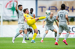 Matej Podlogar of Domzale during football match between NK Domzale and NK Olimpija in 29th Round of Prva liga Telekom Slovenije 2019/20, on June 21, 2020 in Sports park, Domzale, Slovenia. Photo by Vid Ponikvar / Sportida