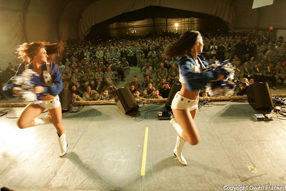 uso show baghram....al franken and the taliban cheerleaders..(Dallas cowboys)......