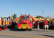 September 10, 2011: Iowa State fans cheer as they wait for the team to arrive before the game between the Iowa Hawkeyes and the Iowa State Cyclones during the Iowa Corn Growers Cy-Hawk game at Jack Trice Stadium in Ames, Iowa on Saturday, September 10, 2011.