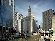 The Trump Tower, Wrigley Building, and Tribune Tower