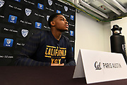 California's Paris Autsin during Pac-12 Basketball Media Day, Tuesday, Oct. 8, 2019, in San Francisco, Calif. (Dylan Stewart/Image of Sport)
