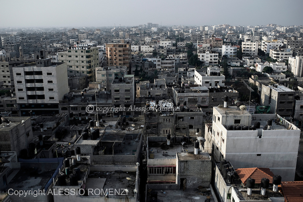 Gaza City: Panoramic view of Gaza City center. November 19, 2012. ALESSIO ROMENZI