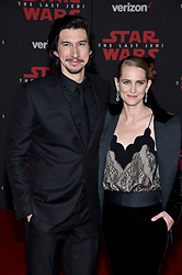 Adam Driver attends the world premiere of Disney Pictures and Lucasfilm's 'Star Wars: The Last Jedi' at The Shrine Auditorium on December 9, 2017 in Los Angeles, CA, USA. Photo by Lionel Hahn/ABACAPRESS.COM