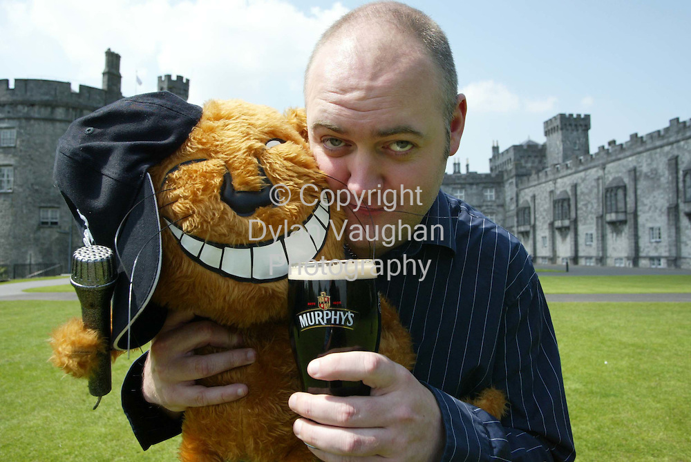 30/6/2003.Comedian Dara O Briain pictured in Kilkenny yesterday where they he is appearing at the Murphy's Cat Laughs Comedy festival which runs over the bank holiday weekend..Picture Dylan Vaughan