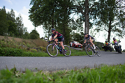 Leah Thorvilson (USA) of CANYON//SRAM Racing rides near the end of the peloton on Stage 2 of the Ladies Tour of Norway - a 140.4 km road race, between Sarpsborg and Fredrikstad on August 19, 2017, in Ostfold, Norway. (Photo by Balint Hamvas/Velofocus.com)