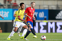 Spain's Andres Iniesta (r) and Colombia's Abel Aguilar during international friendly match. June 7,2017.(ALTERPHOTOS/Acero)