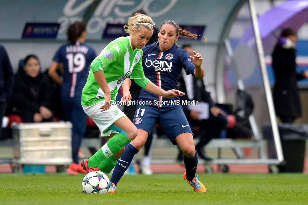 Lena Goessling / Jessica Houara - 26.04.2015 - Paris Saint Germain / Wolfsbourg - 1/2Finale Champions League feminine<br />Photo : Andre Ferreira / Icon Sport