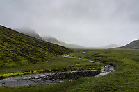 Hiking in Syðra Fjallabak, Interior of Iceland.