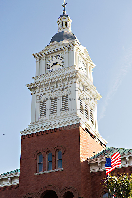 Old courthouse in the historic district of Fernandina Beach, Florida