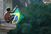 Belo Horizonte_MG, Brasil.<br /> <br /> Manifestacao jogo Brasil x Uruguai pela Copa das Confederacoes 2013 em Belo Horizonte, Minas Gerais.<br /> <br /> Manifestation match between Brazil x Uruguay for the Confederations Cup 2013 in Belo Horizonte, Minas Gerais.<br /> <br /> Foto: LEO DRUMOND / NITRO