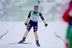 11.12.2011, Biathlonzentrum, Hochfilzen, AUT, E.ON IBU Weltcup, 2. Biathlon, Hochfilzen, Staffel Damen, im Bild Neuner Magdalena (Team GER) // during Team Relay  E.ON IBU World Cup 2th Biathlon, Hochfilzen, Austria on 2011/12/11. EXPA Pictures © 2011. EXPA Pictures © 2011, PhotoCredit: EXPA/ nph/ Straubmeier..***** ATTENTION - OUT OF GER, CRO *****