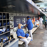 Toronto Blue Jays Manager John Gibbons in the dugout during the New York Mets Vs Toronto Blue Jays MLB regular season baseball game at Citi Field, Queens, New York. USA. 15th June 2015. Photo Tim Clayton
