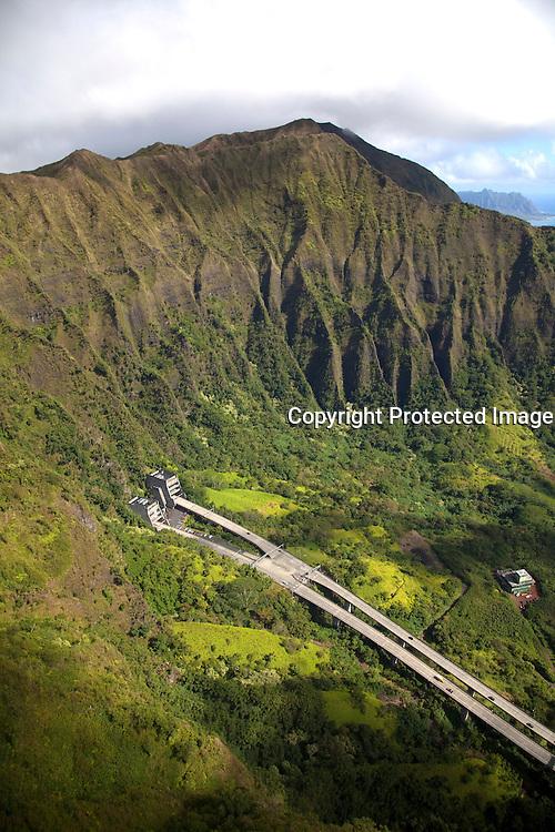 H-3 Freeway, Koolau Mountains, Windward Oahu, Hawaii